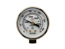 Gas Pressure Gauge Isolated On White Background, With Clipping Path.