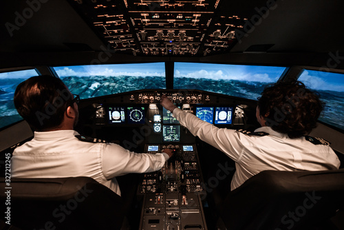 Two pilots during the flight Tablou Canvas