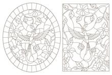 A Set Of Contour Illustrations...