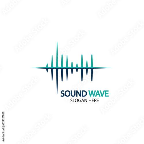 Photo Sound waves vector illustration