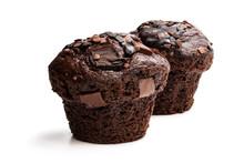 Dark Chocolate Muffins Isolate...