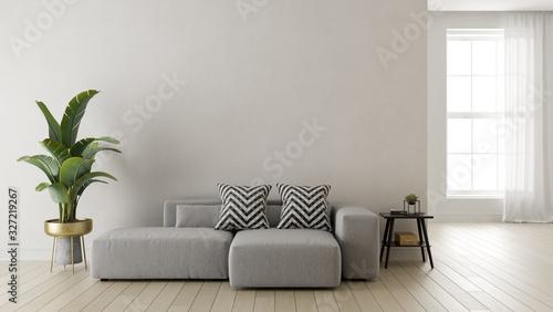 Fototapeta Interior of modern living room 3 D rendering obraz