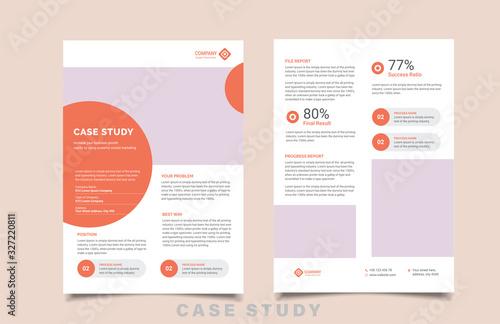 Obraz na plátně case study template with minimal design