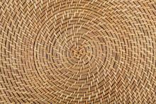 Texture D'un Tressage En Osier Circulaire