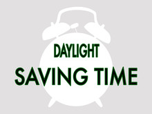 Black And White Daylight Saving Time Vector