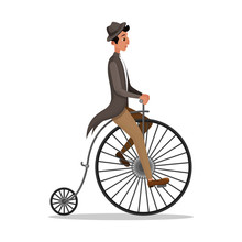 Man Riding Penny Farthing Retr...