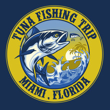 Shirt Design Of Tuna Fishing