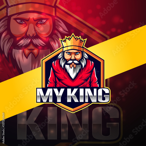 Foto My king esport mascot logo design