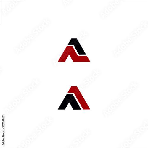 A letter logo initial design A1 Canvas Print