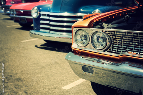 Fototapety, obrazy: Classic cars on the street
