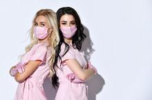 Two Ladies In Pink Scrubs, Dis...