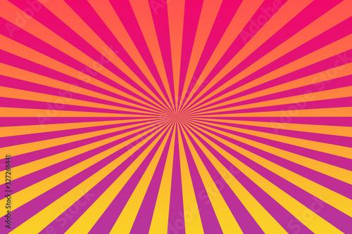 An abstract retro sunburst background image. Tableau sur Toile