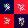 set of hand drawn lettering inspirational and motivational quote