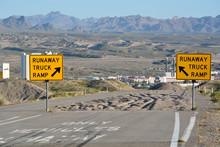 Runaway Truck Ramp Sign A Emer...
