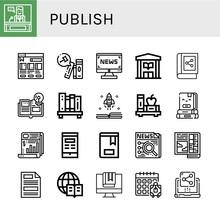 Publish Simple Icons Set