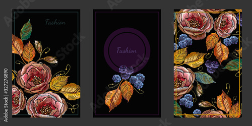 Fotografia, Obraz Roses and blackberry