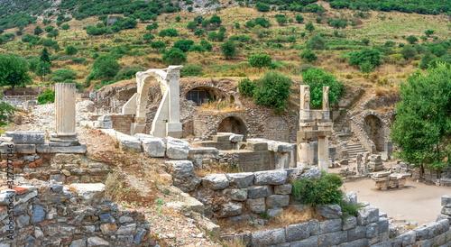Fototapeta Domitian square and Domitian Temple in Ephesus, Turkey