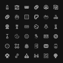 Editable 36 Chip Icons For Web And Mobile