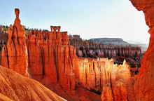 Scenic Hoodoos In Bryce Canyon National Park At Sunrise Utah USA