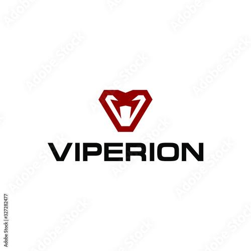modern viper snake cobra logo icon vector design vector suitable for gaming team Slika na platnu