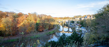 Knaresborough Yorkshire Winter River Scene