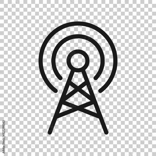 Antenna tower icon in flat style Wallpaper Mural
