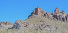 Black Mountain Range Near Oatman Arizona USA