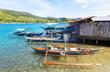 Leinwandbild Motiv Boat in Philippines