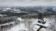 Aussichtsturm Hohe Bracht mit Schnee von oben