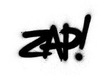 Graffiti Zap Word Sprayed In B...