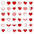 Set of vector hearts