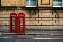 Panorama Of Red Telephone Box ...
