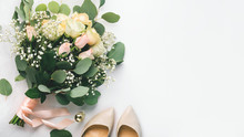 Bride Accessories With Bouquet...