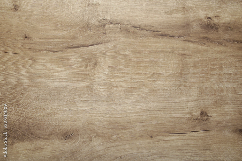 Fototapeta Light old wooden background with horizontal boards, top view