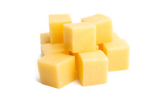 Cheese Cubes Isolated