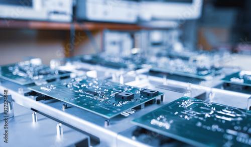 Fotografia Close-up computer green microcircuits
