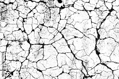 crack ground for abstract background on white background Canvas Print