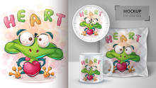 Love Frog Poster And Merchandi...