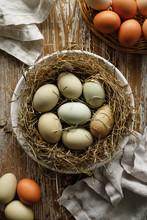 Fresh Eggs From An Organic Far...