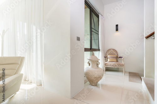 Fototapety, obrazy: living area with hallway house