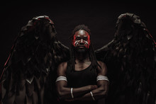 Dark African Angel With Big Bl...