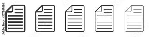 Obraz Paper documents icons. Linear File icons. - fototapety do salonu