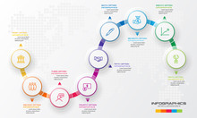Circle Timeline Infographic Te...