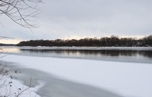 The River In The Winter. River...