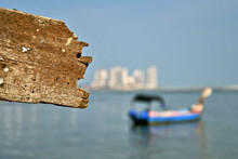 Wooden Plank And Sea Harbour