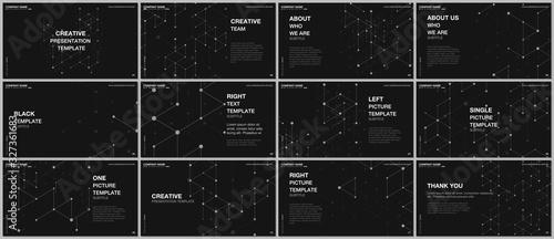 Valokuva Presentation design vector templates, multipurpose template for presentation slide, flyer, brochure cover design, infographic report presentation