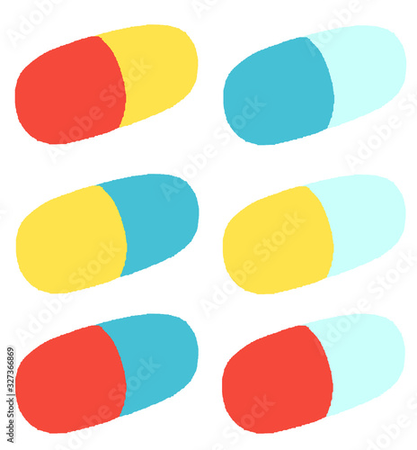 Carta da parati くすり 薬 錠剤 カプセル