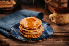 American Pancakes With Delicio...