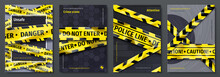 Caution Tape Posters. Set Of B...