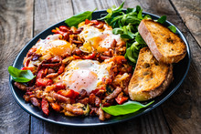 Shakshuka - Fried Eggs With Ba...